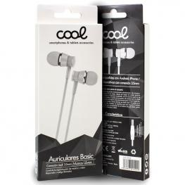 Auriculares 3,5 Mm Cool Basic Stereo Con Micro Blanco