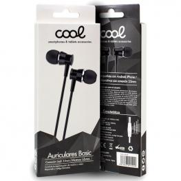 Auriculares 3,5 Mm Cool Basic Stereo Con Micro Negro
