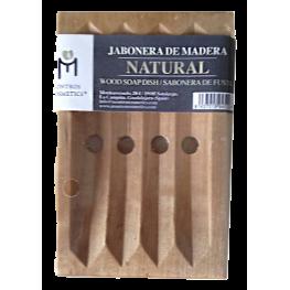 Jabonera de Madera Natural