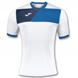 Camiseta Joma Crew II White-Royal