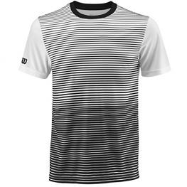 Camiseta Wilson M Team Striped Crew Black