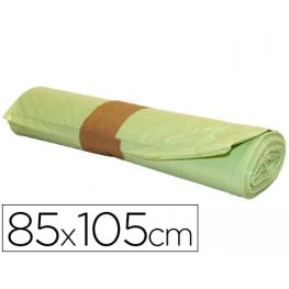 Bolsa Basura Industrial Amarilla 85X105Cm Galga 110 Rollo de 10 Unidades.