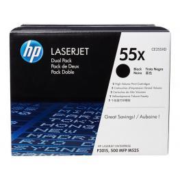 Hewlett Packard Toner Laser 55X Negro Pack 2 Uds.