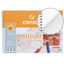 Guarro Canson Bloc Dibujo Basik Din A4+ 23X32.5 Cm 20 Hojas de 150 Gramos.