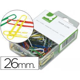 Clips Colores Q-Connect -26 Mm -Caja de 125 Unidades