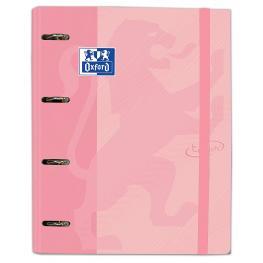 Carpeta Carton A4+ Oxford 4 Anillas Touch + Recambio Color Flamingo Pastel 400127154