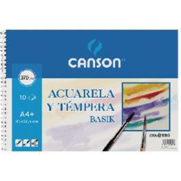 Guarro Canson Papel Acuarela Basik Canson Din A4+ 370 Gr Pack de 6 Hojas24 X 32 Cm.