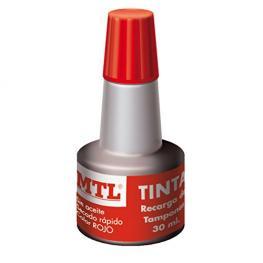 Frasco Tinta Sellar Rojo 30Ml. Mtl