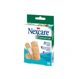 Nexcare 20 Tiras Universal Protectoras  Impermeables de Plástico Hipoalergenicas Yp201060180