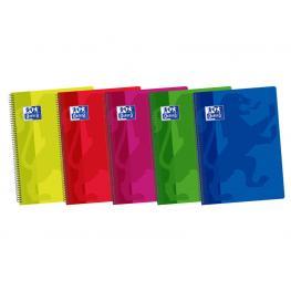 Oxford Cuaderno School Tapa Plástico 155X215 80 Hojas 90 Gramos Cuadrícula 4X4 C/m 400044180