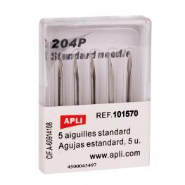 Apli Caja 5 Recambios de Agujas Para Navetes Maquina Etiquetadora Estándar 101545