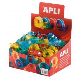 Rollo Cinta Adhesiva Transparente15X10 + Dispensador Color Surtido 12082