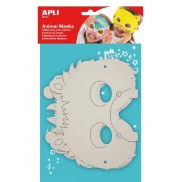 B.Mascaras de Carton Animales    6U 13684