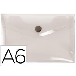Sobre Boton Pp  A6 Transparente Liderpapel