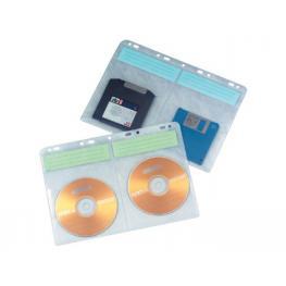 Paq. 10 Fundas Pp Para 4 Cd/dvd Q-Connect Kf02203