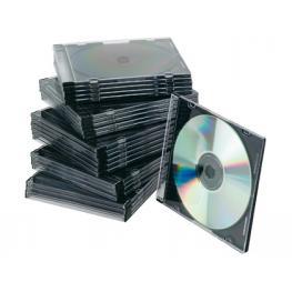 Pack 25 Cajas Slim Para Cd/dvd Q-Connect Kf02210