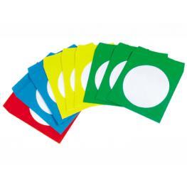 Paq. 50 Sobres Cd/dvd Colores Surtidos Q-Connect Kf02655