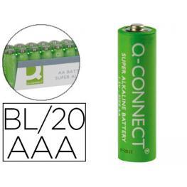 Paq. 20 Pilas Alcalinas Q-Connect Aaa 1,5V