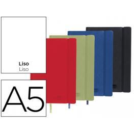Libreta Liderpapel Simil Piel A5 120 Hojas 70G/m2 Liso Colores Surtidos.