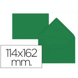Paq. 15 Sobres Verde Acebo 114X162 Solapa Pico 80Gr Liderpapel Sb39