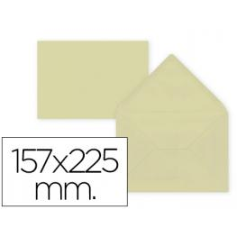 Paq. 9 Sobres Crema 157X225 Solapa Pico 80Gr Liderpapel