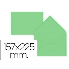 Paq. 9 Sobres Verde 157X225 Solapa Pico 80Gr Liderpapel