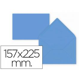Paq. 9 Sobres Azul Oscuro 157X225 Solapa Pico 80Gr Liderpapel