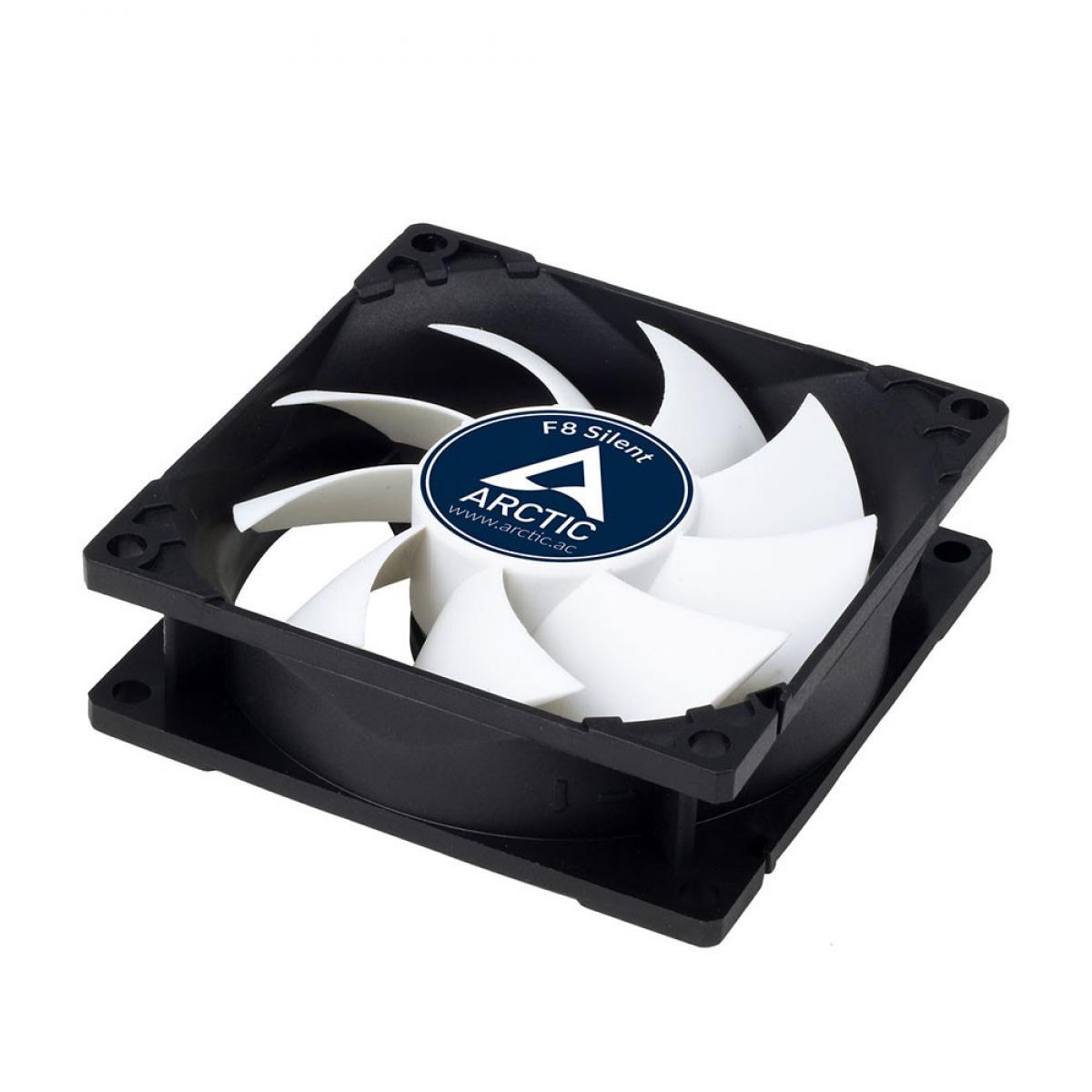 Arctic F8 Silent Blanco 80x80x25