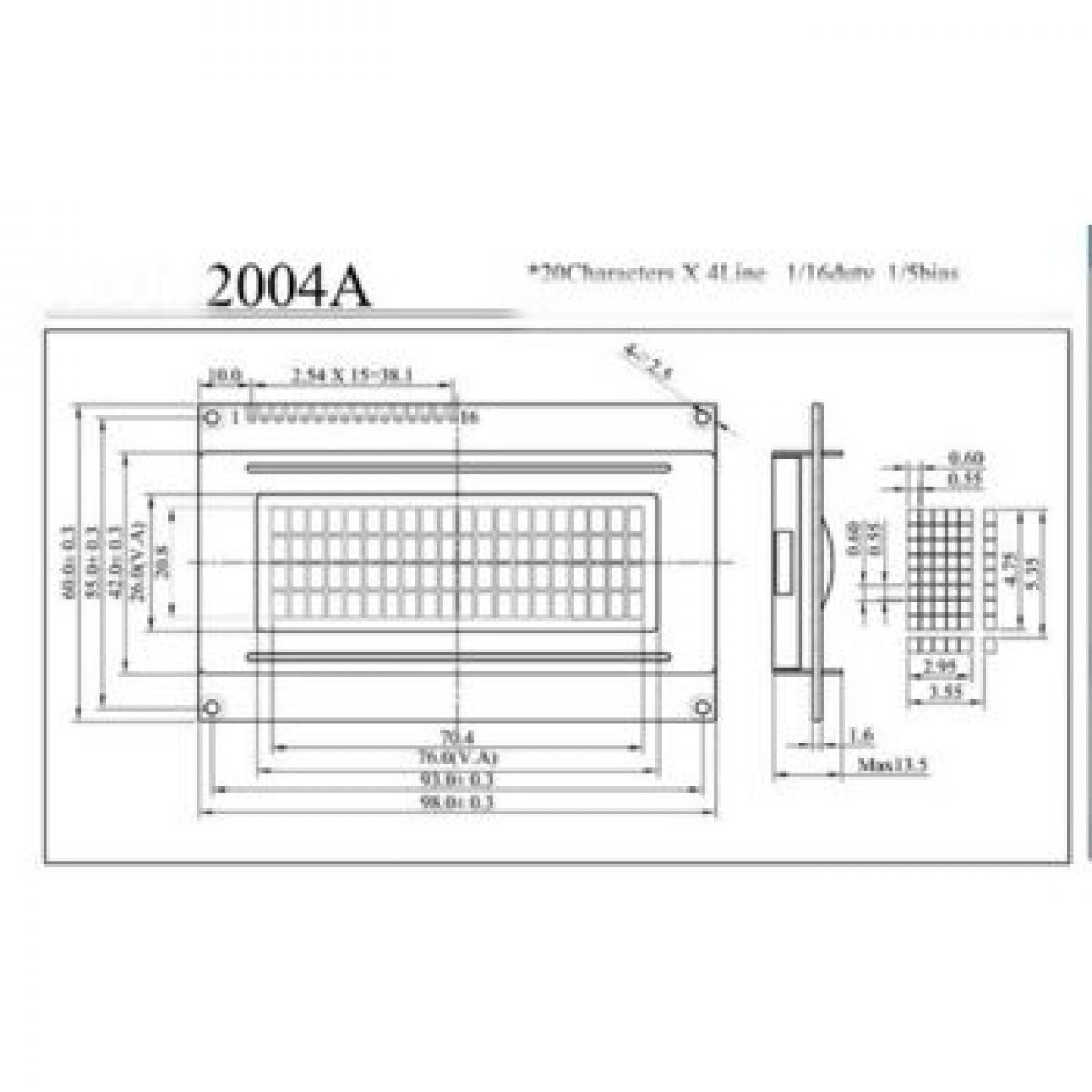 ARDUINO - DISPLAY LCD AZUL 5V 20X4