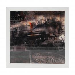 Cuadro 3021 Medidas 20X20 Tren