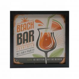Cuadro 3021 Medidas 20X20 Beach Bar Cocktails