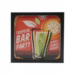 Cuadro 3021 Medidas 20X20 Tropical Bar Party