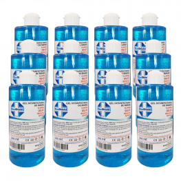 Pack 12Uds Gel Hidroalcohólico 70% 500Ml