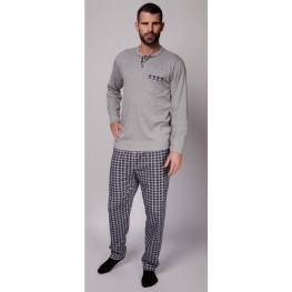 Rachas Pijama Hombre M/l 18459  Gris/cuadros T.4Xl