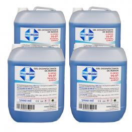 Pack 4 Garrafas Gel Hidroalcohólico 70% 5L
