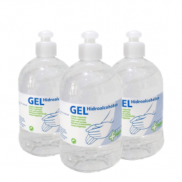 Pack 3 Botes Gel Hidroalcohólico 500Ml