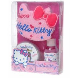 Hello Kitty Set Gel Ducha ,esponja, Crema de Cuerpo Ref 10884