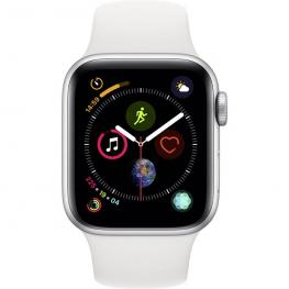 Apple Watch Series 4 Gps Cell 40Mm Silver Alu White Band