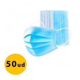 Mascarilla Quirurgica 3 Capas Caja 50Uds