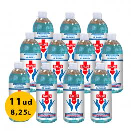 Pack 11Ud Gel Hidroalcohólico 750Ml Salus