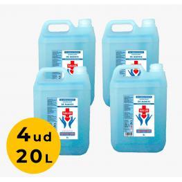 Pack 4Ud Garrafa 5 Litros Gel Hidroalcohólico