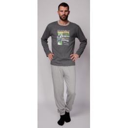 Rachas Pijama Hombre M/l 18454  Gris T.4Xl