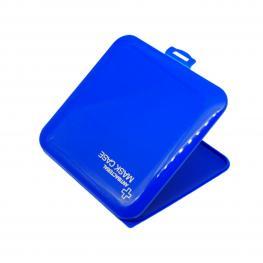 Estuche Para Mascarillas Antibacteriano Azul