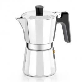 Cafetera Italiana Bra 8535 (6 Tazas) Aluminio