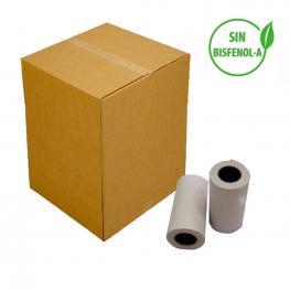 Caja de 300 Rollos de Papel Térmico de 57X30Mm
