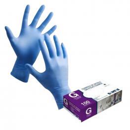 Caja 100 Guantes Nitrilo Azul Sin Polvo Gd21