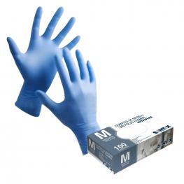 Caja 100 Guantes Nitrilo Azul Sin Polvo Nitriflex Blue Gd20B