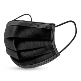 Mascarillas Higienicas 3 Capas Color Negro (Caja 10)