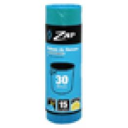Bolsa Basura Zap Azul-Limon Autoc15Ux30L