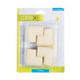 Protector Oryx Esquinas Muebles Caucho(Bister.4Piezas)